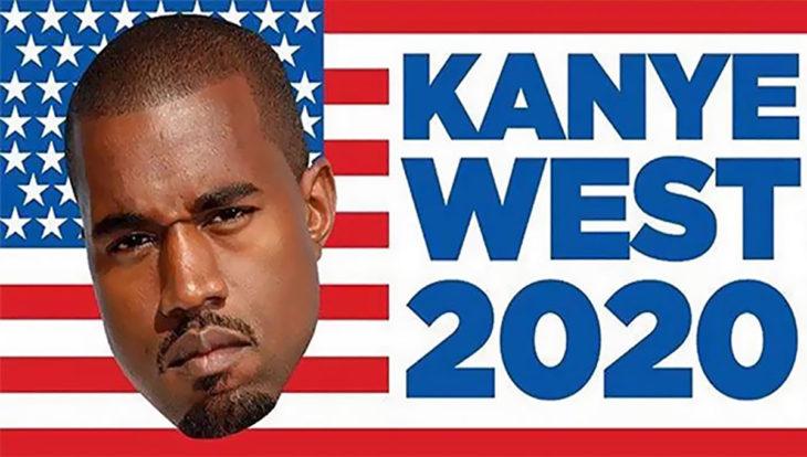 bandera de eua con el rostro de kanye west