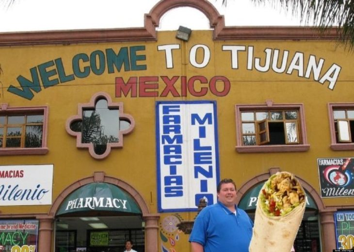 photoshop de hombre con burrito gigante