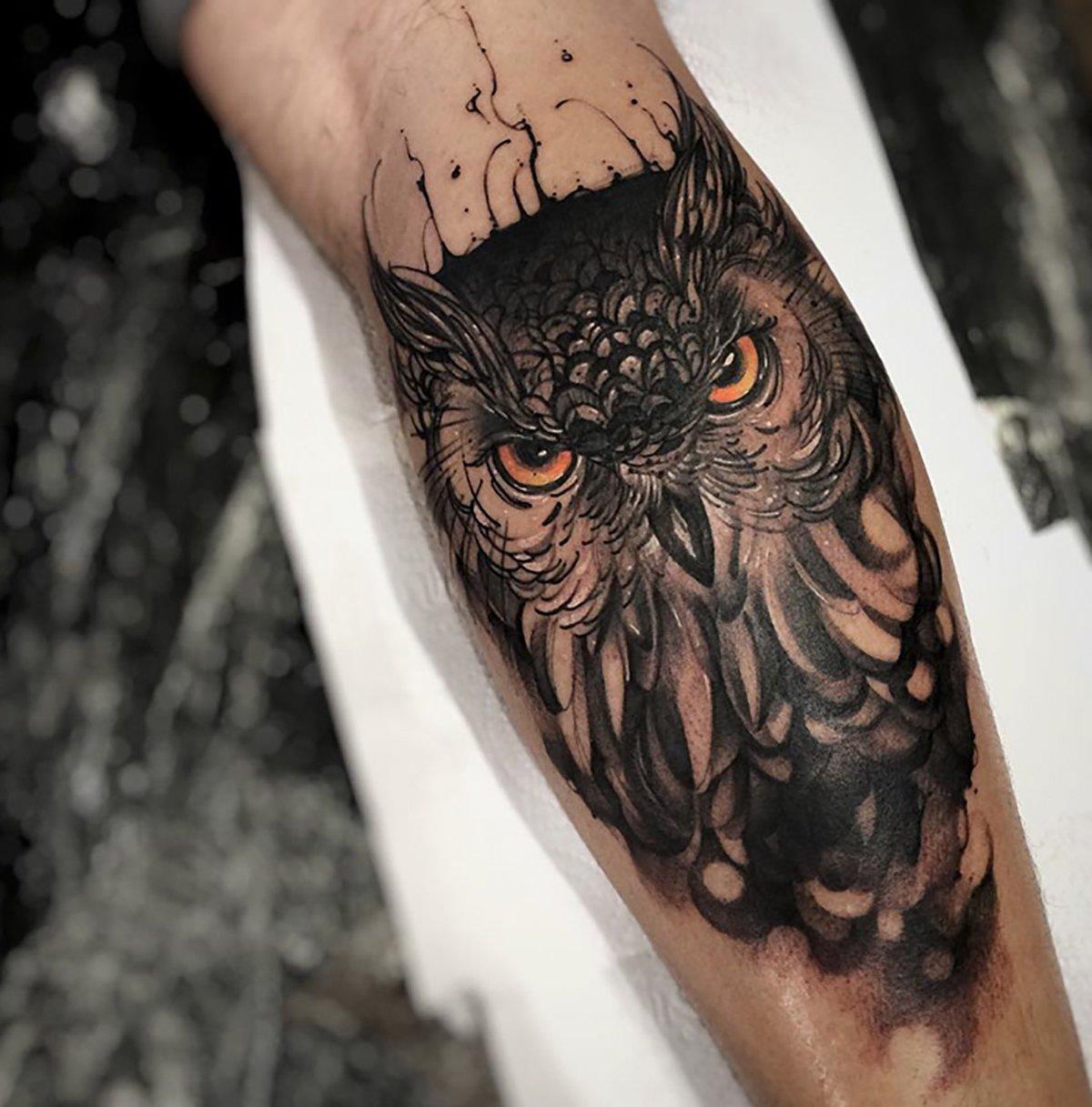 20 tatuajes de aves en diferentes partes del cuerpo for Calavera lobo