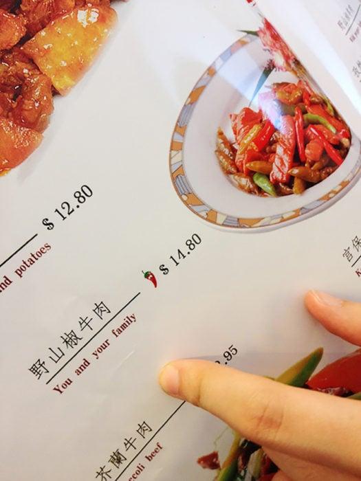 menú chino mal traducido