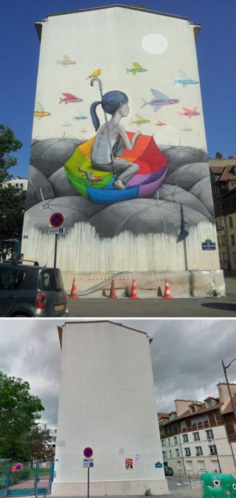 mural Sombrilla - París, Francia