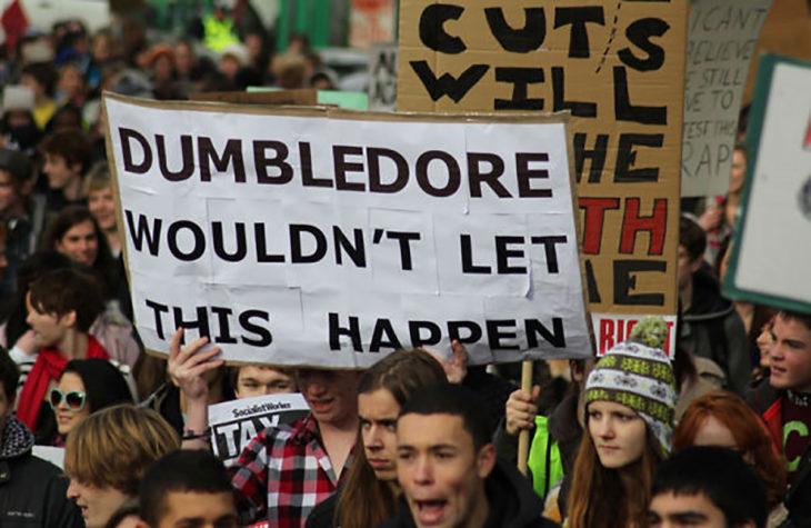 cartel de Dumbledore no dejaría que esto pasara