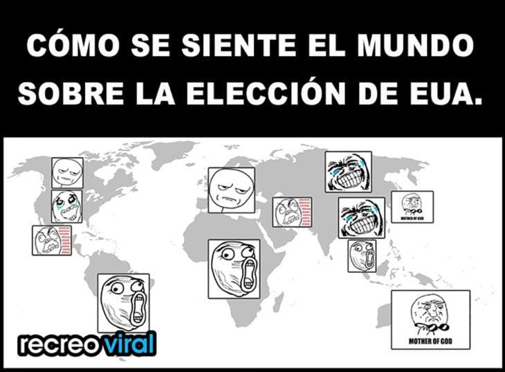 meme mapa de las elecciones de eua