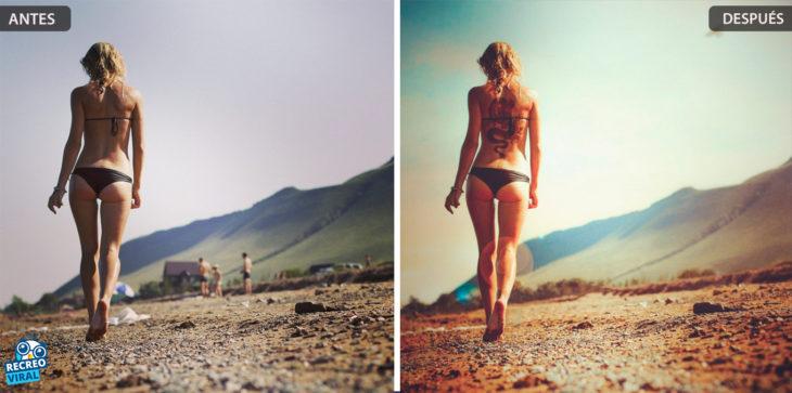 Magia de Photoshop - Mujer bikini paisaje