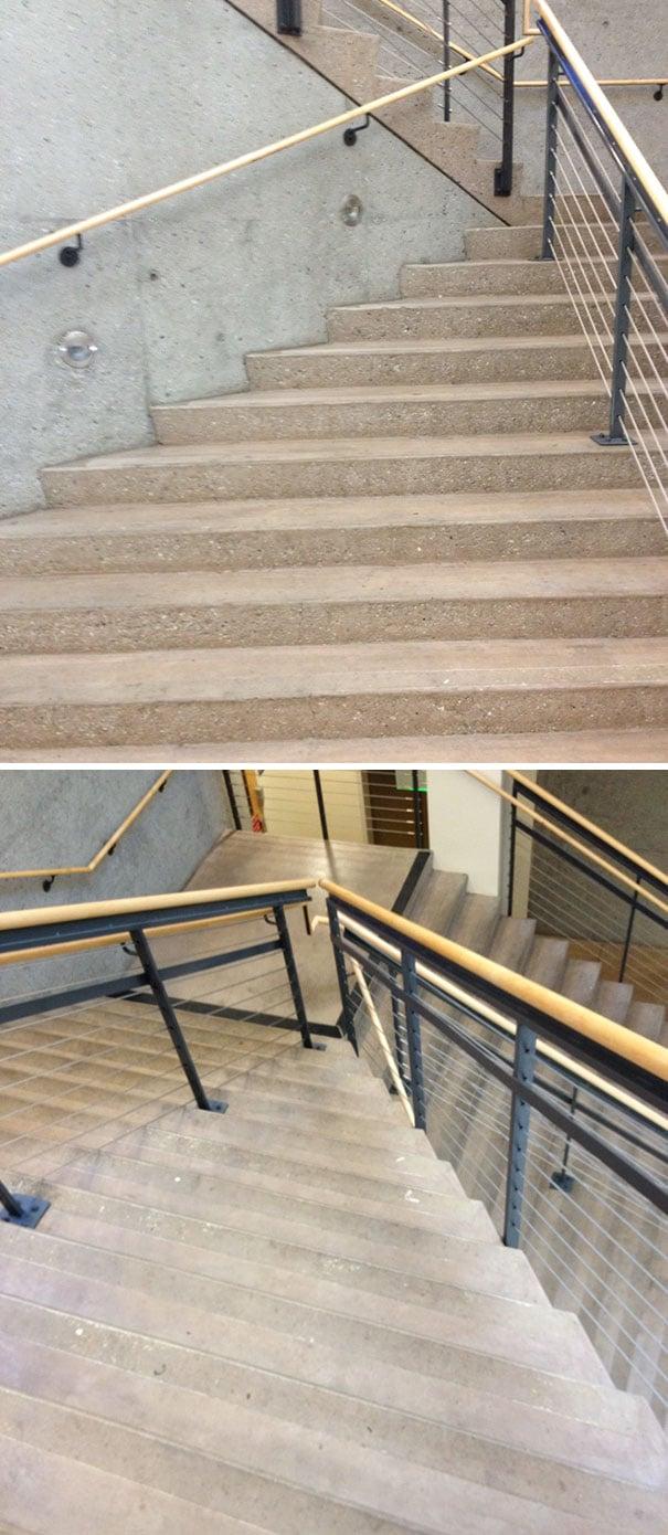escaleras mal instaladas