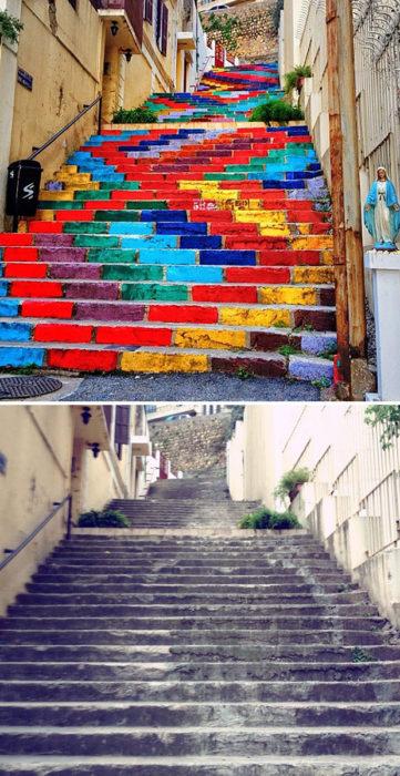 Arte urbano En Los Pies de Beirut