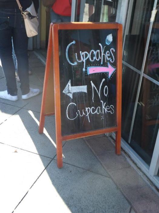 cartel gracioso de pastelería
