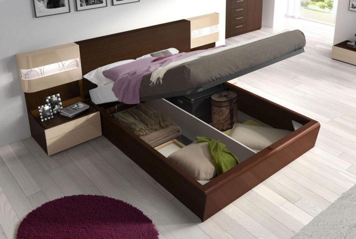 cama con compartimento debajo