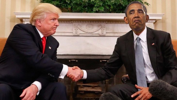 trump y obama photoshop, obama haciendo una expresión graciosa