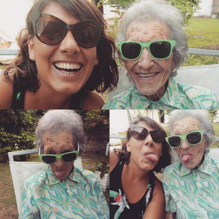 abuela y nieta con lentes