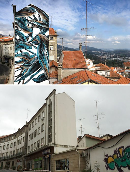 Mural de Pájaros - Covilha, Portugal