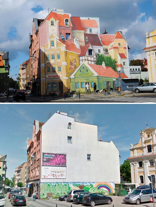 Mural 3D - Poznan, Polonia