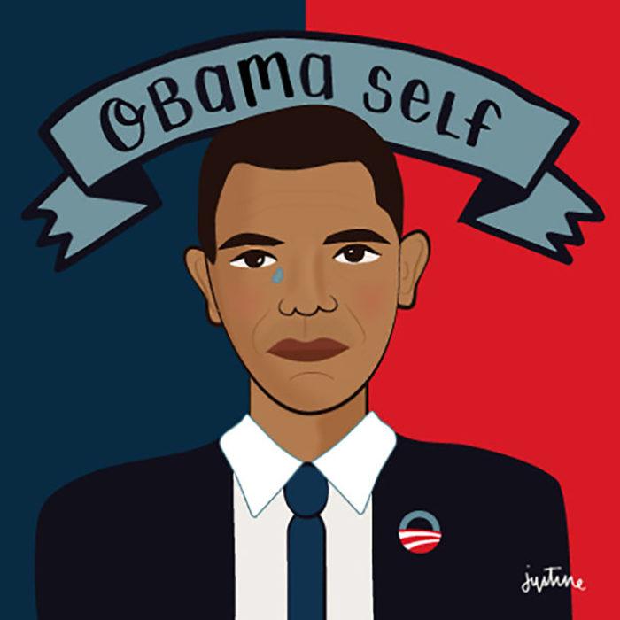 ilustración de obama