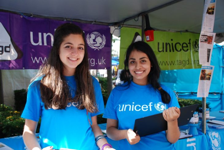 chicas de la unicef