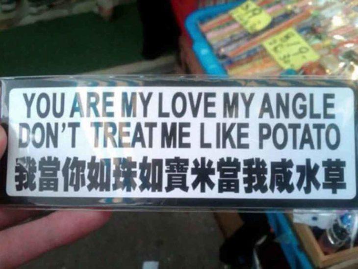 letrero gracioso chino