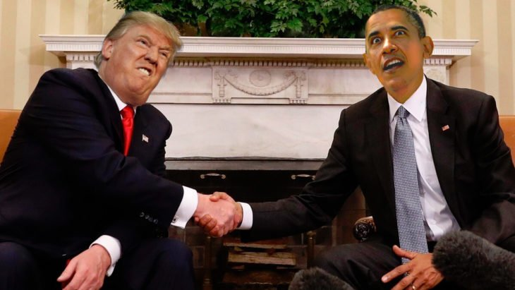 trump y obama photoshop haciendo expresiones raras