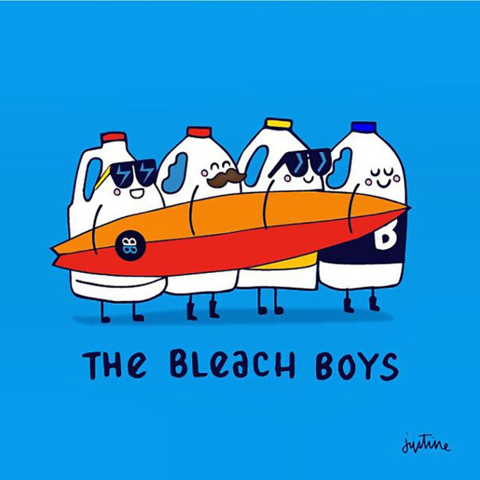 the bleach boys ilustración de decolorantes