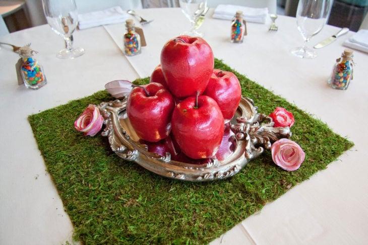 centro de mesa de blancanieves