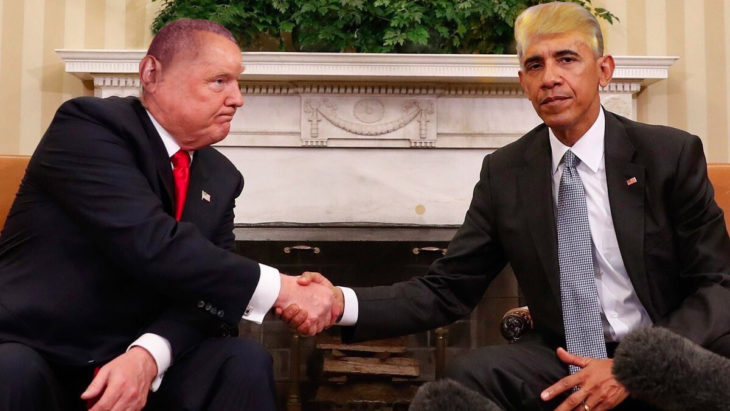 trump y obama photoshop cambio de cabellera