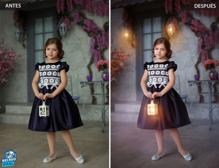 Magia de Photoshop - Niña con una vela