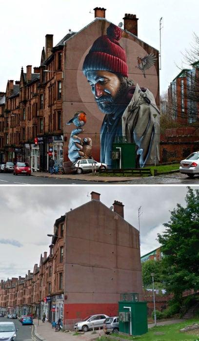 Mural Fotorealístico - Glasgow, Escocia