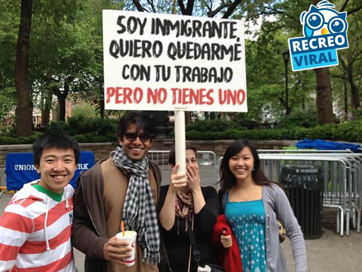 manifestantes inmigrantes