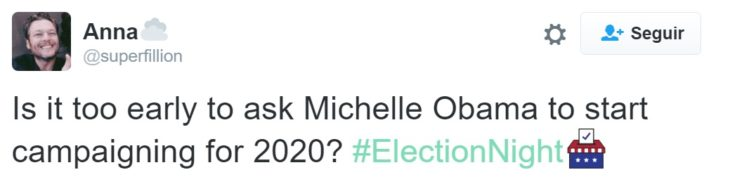 Tuit Michelle Obama para 2020