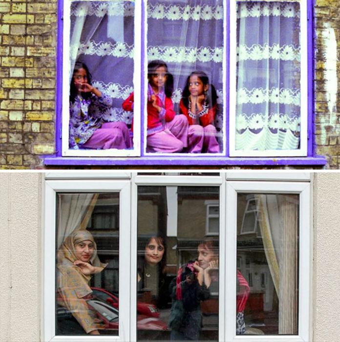 cinco hermanas en una ventana antes y después