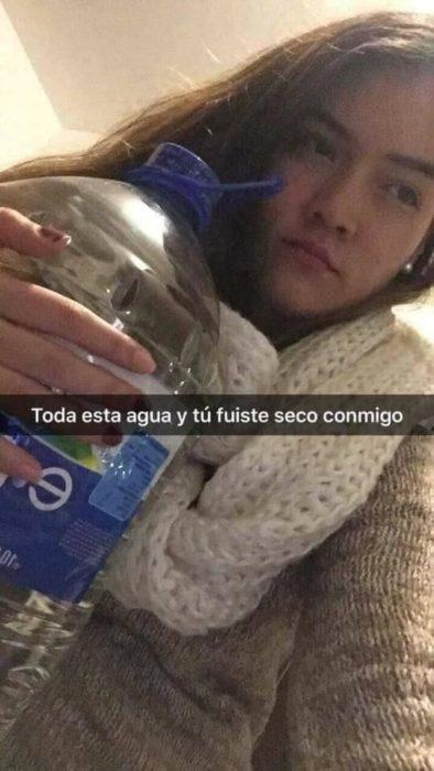Historias Snapchat - tanta agua