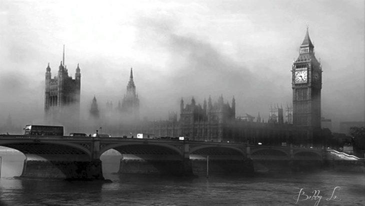 big ben londres en 1952 durante la niebla