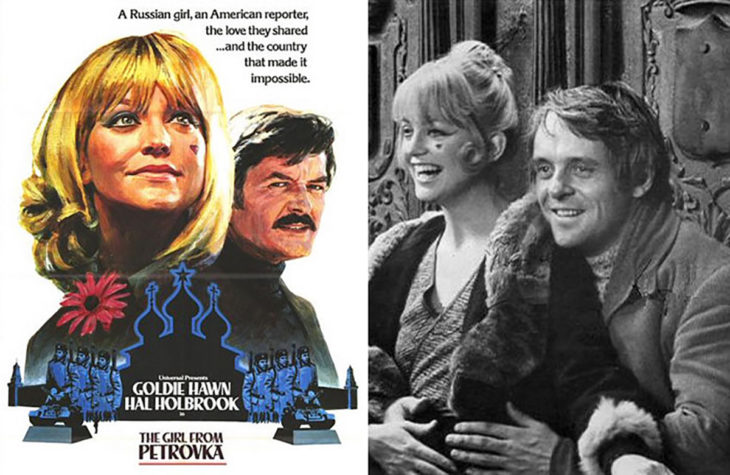 anthony hopkins y portada de la película la chica rusa