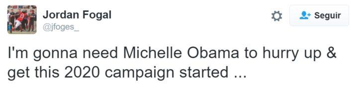 Tuit campaña Michelle Obama