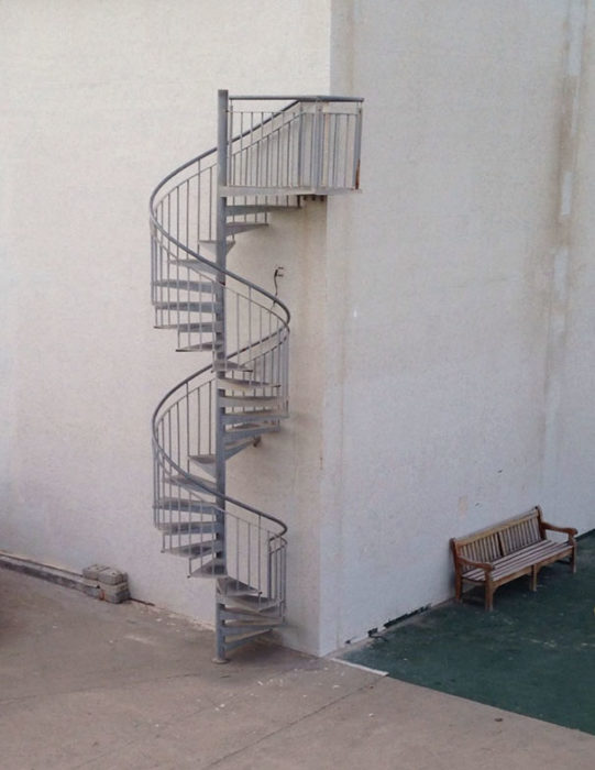 escalera de caracol sin ningún destino