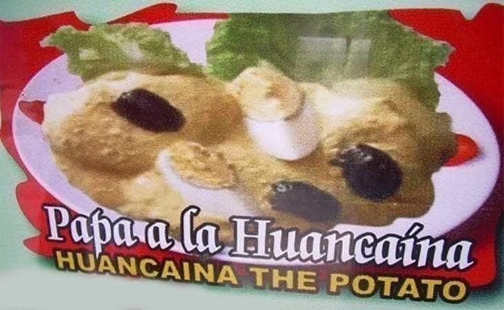 mal traducido papa a la huancaína