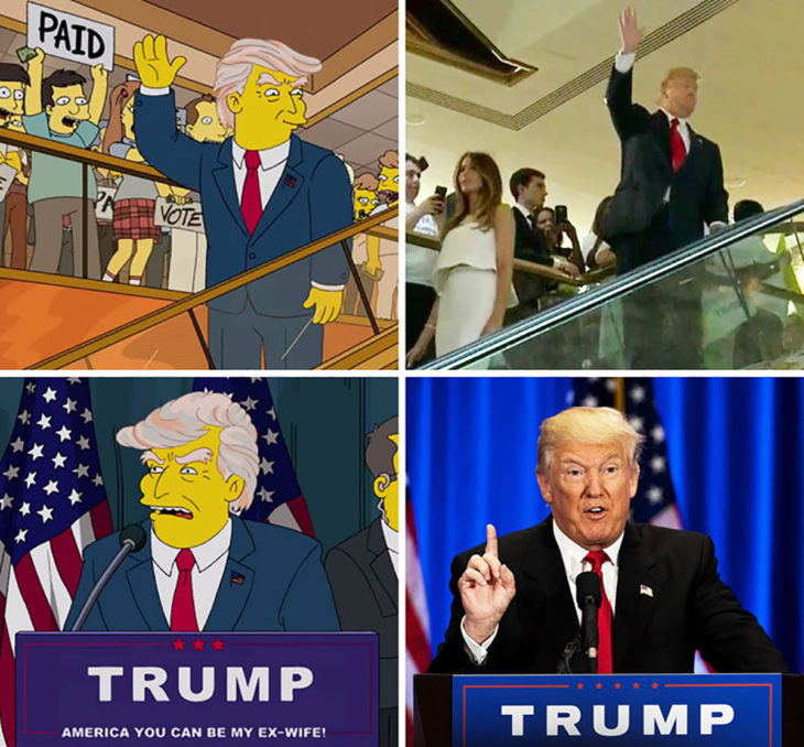 trump presidente en los simpson