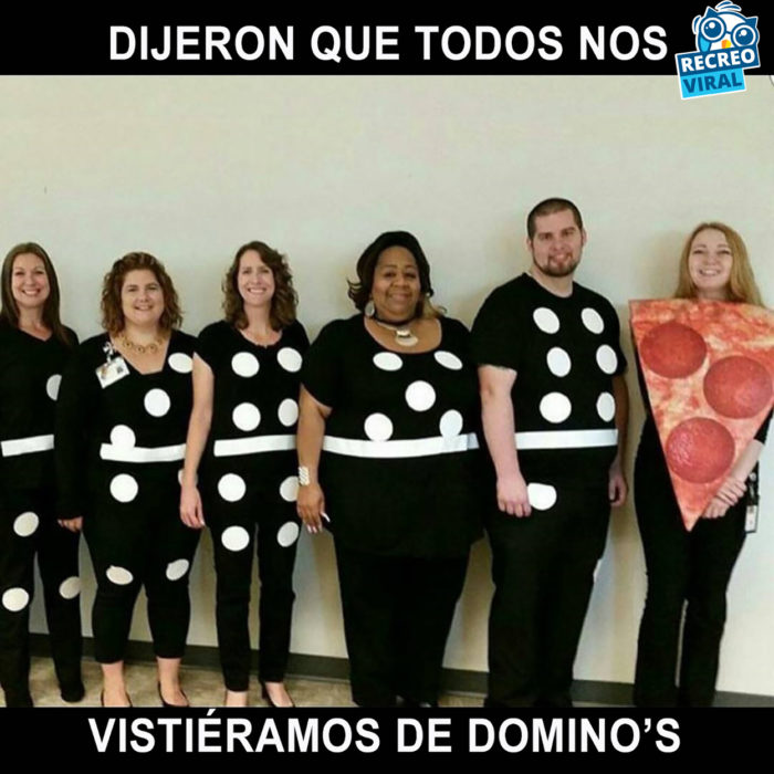disfraces de dominos y de piza