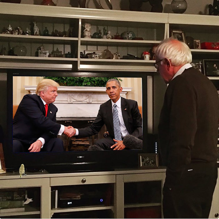 trump y obama photoshop jue viéndolo por la televisión
