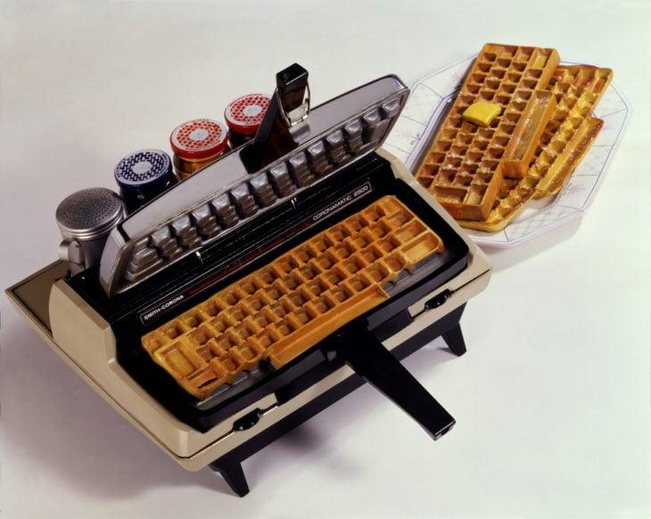artículo para hace waffles en forma de teclado