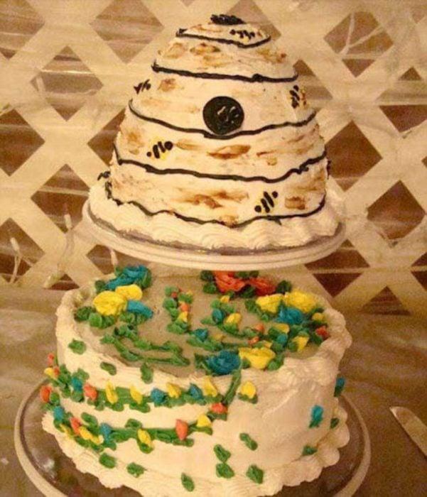 pastel de forma extraña
