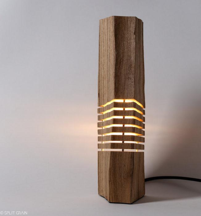 lámpara madero