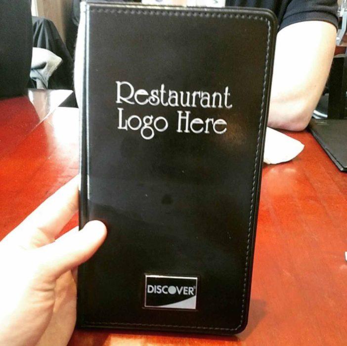 menú de restaurante