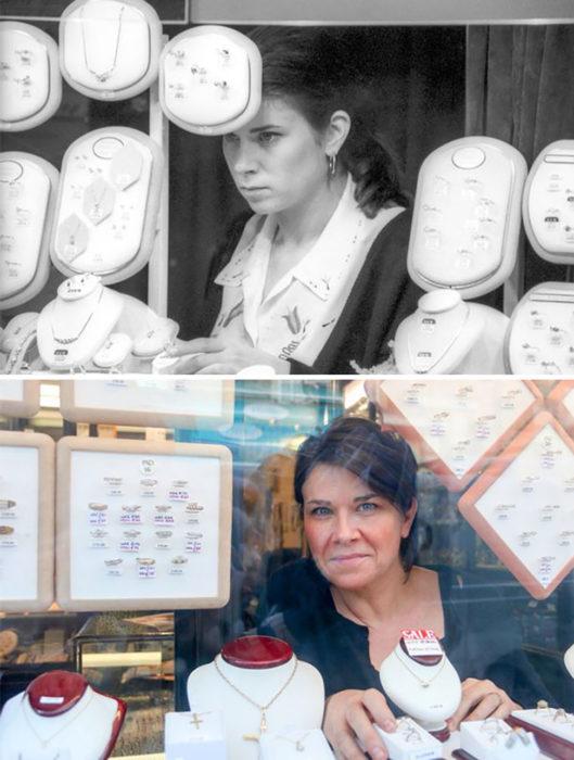 asistente de joyería antes y después