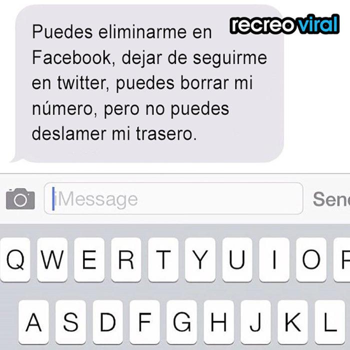 mensaje de facebook ex