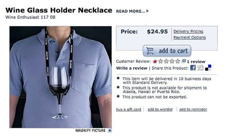 Collar para sostener copa de vino