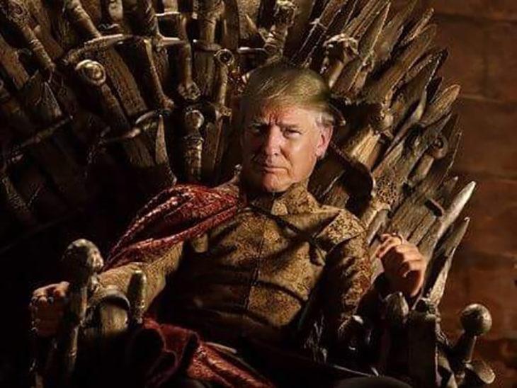 donald trump juego de tronos