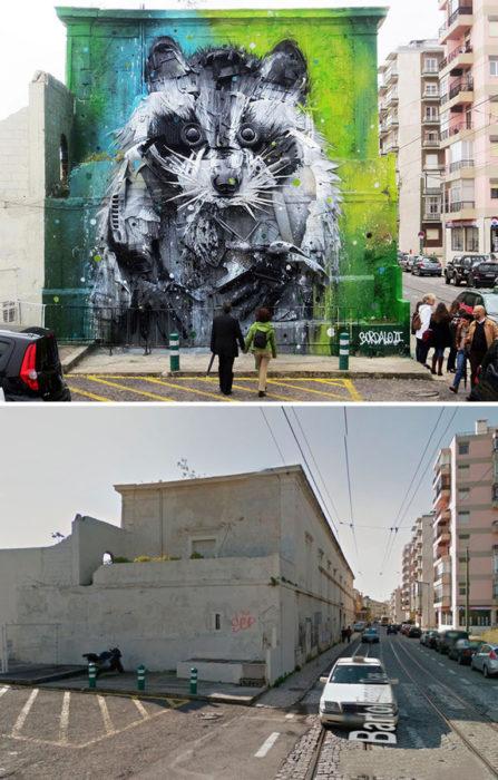 Mural de Mapache - Lisboa Portugal