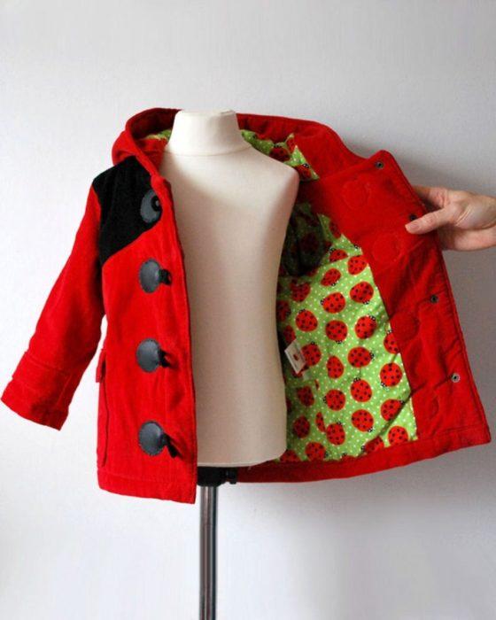 abrigo de catarina para niñas pequeñas
