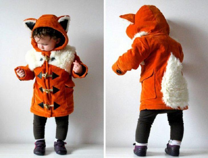 Abrigo de zorro para pequeños