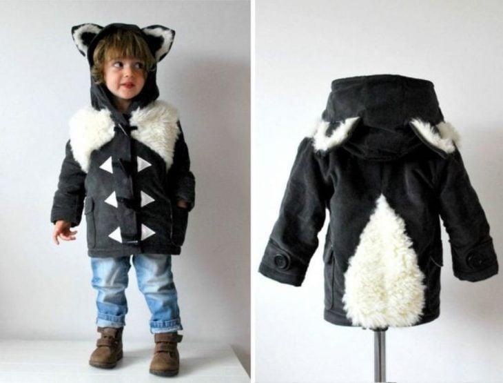 abrigo para niños de zorrillo