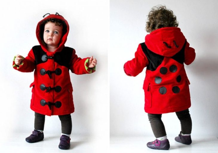 abrigo en forma de catarina para niñas